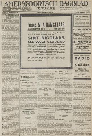 Amersfoortsch Dagblad / De Eemlander 1928-11-20