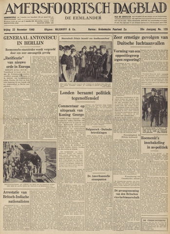 Amersfoortsch Dagblad / De Eemlander 1940-11-22