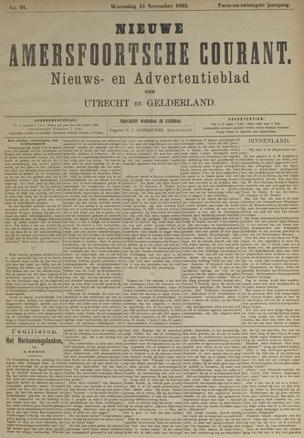 Nieuwe Amersfoortsche Courant 1893-11-15