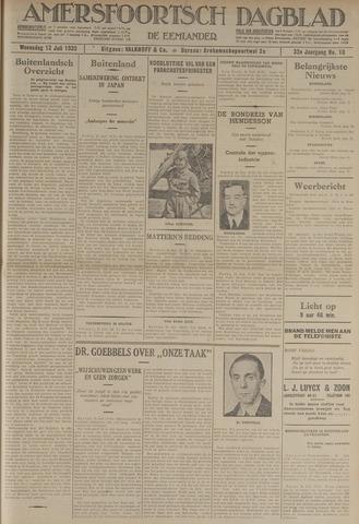 Amersfoortsch Dagblad / De Eemlander 1933-07-12
