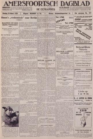 Amersfoortsch Dagblad / De Eemlander 1935-03-26