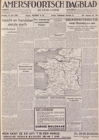 Amersfoortsch Dagblad / De Eemlander 1940-06-15