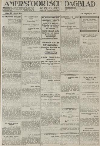 Amersfoortsch Dagblad / De Eemlander 1929-02-22