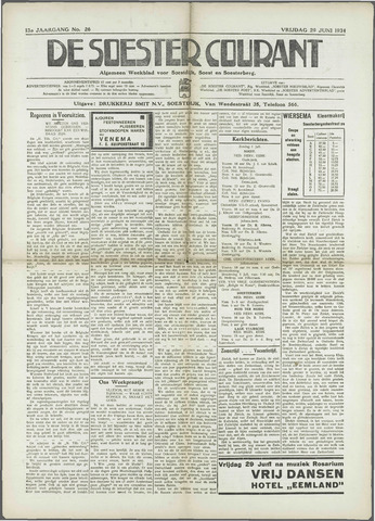Soester Courant 1934-06-29