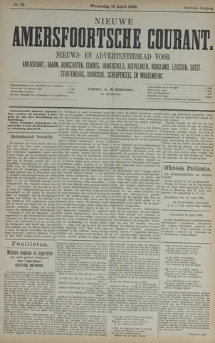Nieuwe Amersfoortsche Courant 1884-04-16