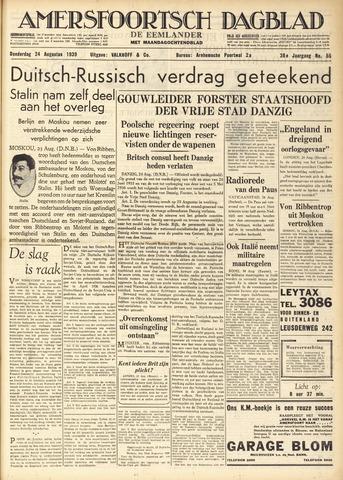 Amersfoortsch Dagblad / De Eemlander 1939-08-24