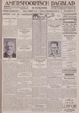Amersfoortsch Dagblad / De Eemlander 1934-09-13