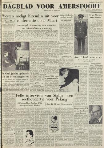 Dagblad voor Amersfoort 1951-02-20