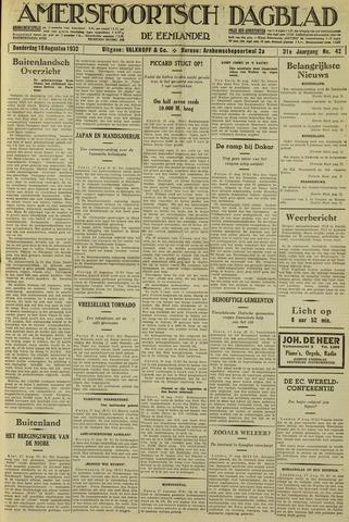 Amersfoortsch Dagblad / De Eemlander 1932-08-18