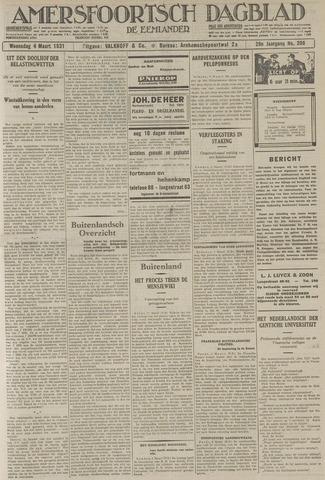 Amersfoortsch Dagblad / De Eemlander 1931-03-04