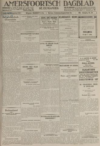 Amersfoortsch Dagblad / De Eemlander 1931-08-14