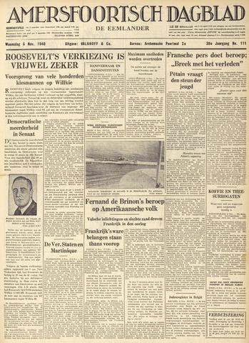 Amersfoortsch Dagblad / De Eemlander 1940-11-06