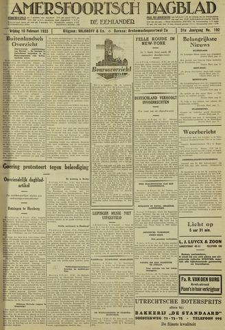 Amersfoortsch Dagblad / De Eemlander 1933-02-10