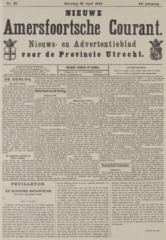 Nieuwe Amersfoortsche Courant 1915-04-24