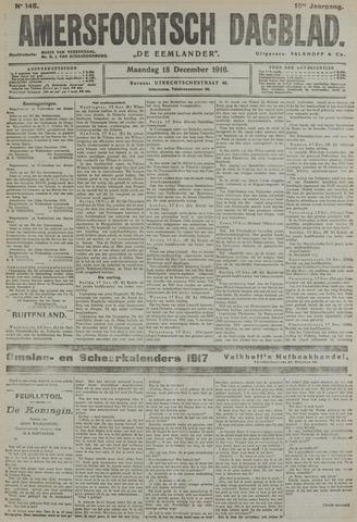 Amersfoortsch Dagblad / De Eemlander 1916-12-18