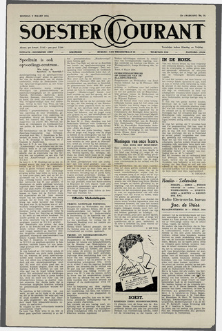 Soester Courant 1954-03-09