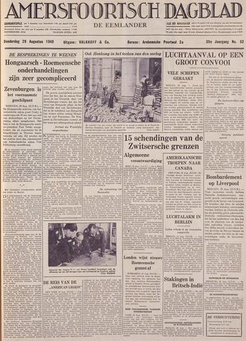 Amersfoortsch Dagblad / De Eemlander 1940-08-29