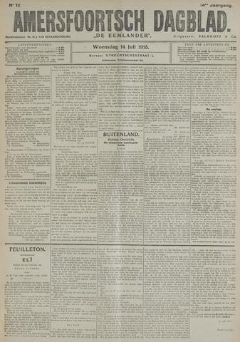 Amersfoortsch Dagblad / De Eemlander 1915-07-14