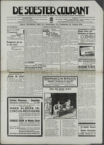 Soester Courant 1939-03-31
