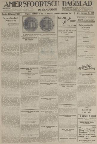 Amersfoortsch Dagblad / De Eemlander 1934-02-26