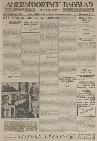 Amersfoortsch Dagblad / De Eemlander 1933-09-21