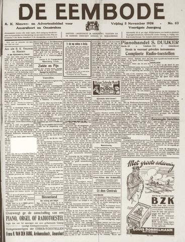De Eembode 1926-11-05