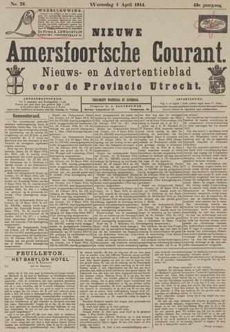 Nieuwe Amersfoortsche Courant 1914-04-01