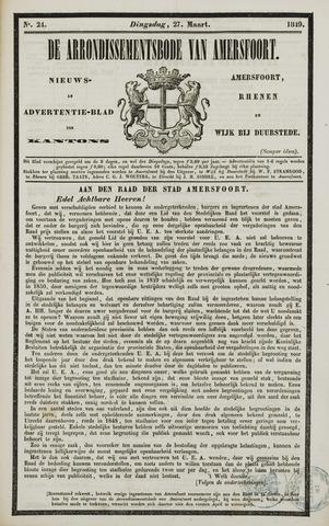 Arrondissementsbode van Amersfoort 1849-03-27