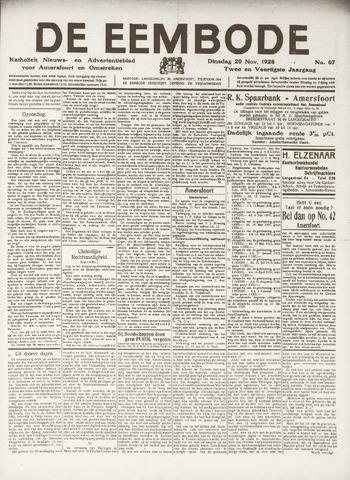 De Eembode 1928-11-20