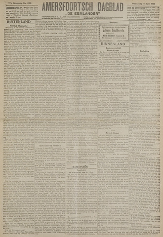 Amersfoortsch Dagblad / De Eemlander 1919-06-04