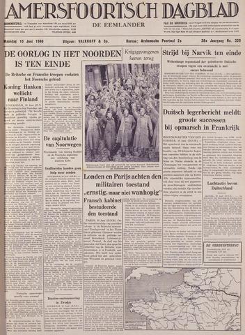 Amersfoortsch Dagblad / De Eemlander 1940-06-10