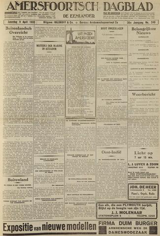 Amersfoortsch Dagblad / De Eemlander 1932-04-09