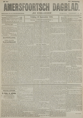 Amersfoortsch Dagblad / De Eemlander 1913-09-19