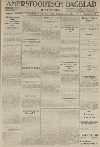 Amersfoortsch Dagblad / De Eemlander 1933-06-12