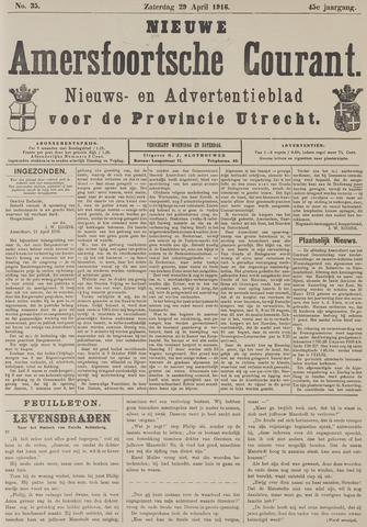 Nieuwe Amersfoortsche Courant 1916-04-29