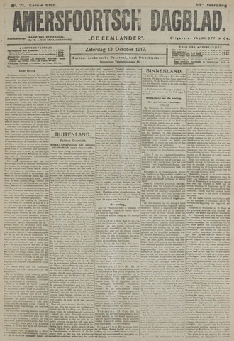 Amersfoortsch Dagblad / De Eemlander 1917-10-13