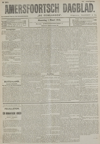 Amersfoortsch Dagblad / De Eemlander 1915-03-01