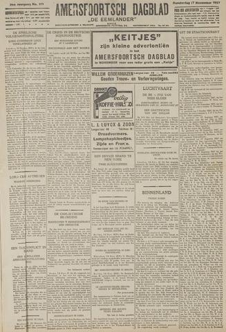 Amersfoortsch Dagblad / De Eemlander 1927-11-17