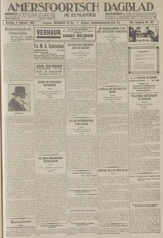 Amersfoortsch Dagblad / De Eemlander 1931-02-03