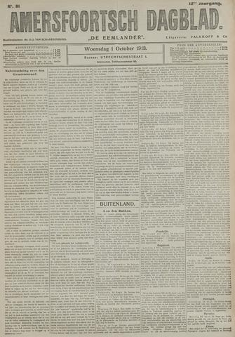 Amersfoortsch Dagblad / De Eemlander 1913-10-01
