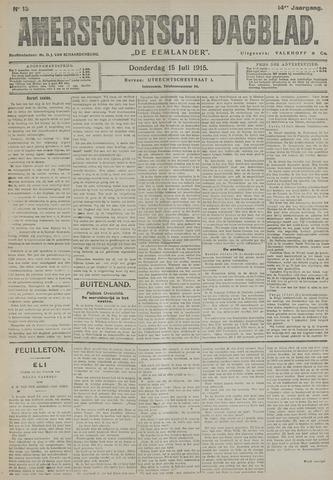 Amersfoortsch Dagblad / De Eemlander 1915-07-15