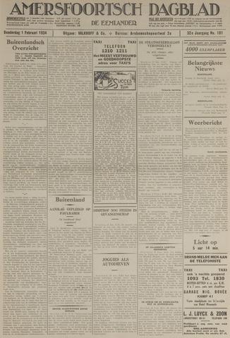 Amersfoortsch Dagblad / De Eemlander 1934-02-01