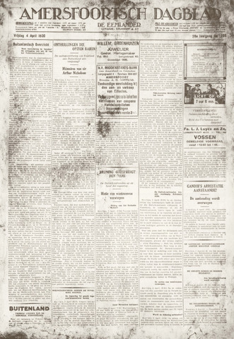 Amersfoortsch Dagblad / De Eemlander 1930-04-04