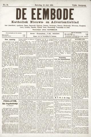 De Eembode 1891-07-18
