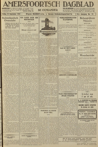 Amersfoortsch Dagblad / De Eemlander 1932-09-23