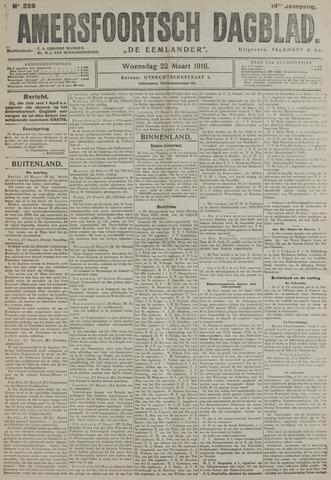 Amersfoortsch Dagblad / De Eemlander 1916-03-22