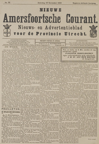 Nieuwe Amersfoortsche Courant 1910-11-19