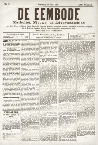 De Eembode 1891-06-20