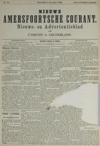 Nieuwe Amersfoortsche Courant 1892-11-02