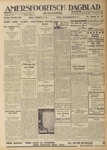 Amersfoortsch Dagblad / De Eemlander 1935-11-09